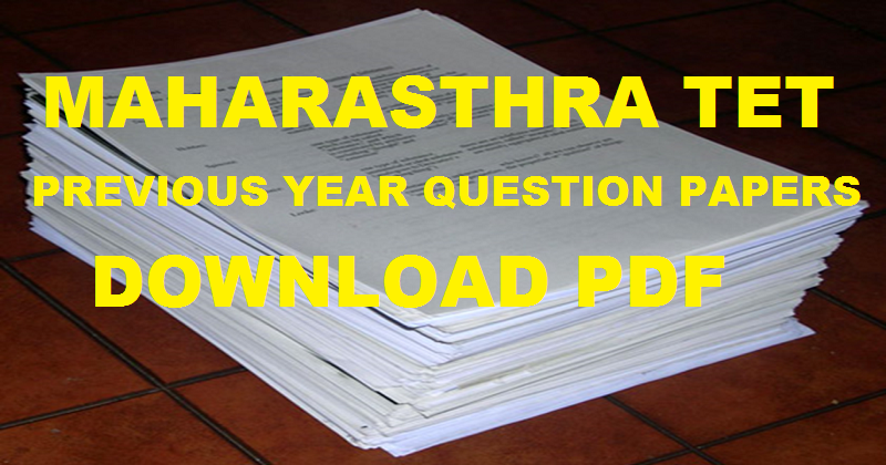 Maharashtra TET Previous Papers For Paper 1 & 2