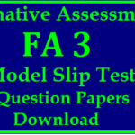 Formative 3 (FA3) Question Papers