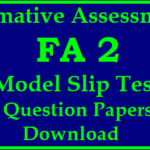 Formative Assessment 2 Question Papers PDF